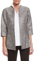 Misook Silver Linings Metallic Jacket, Plus Size