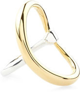 Charlotte Chesnais Gold Dipped & Silver Turtle Ring