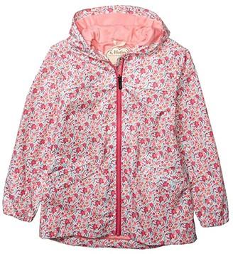 Hatley Summer Garden Microfiber Rain Jacket (Toddler/Little Kids/Big Kids) (White) Girl's Clothing