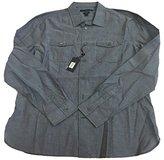 John Varvatos Men's Old Blue Double Pocket Long Sleeves Woven