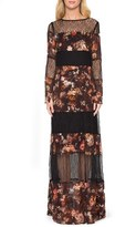 Willow & Clay Women's Floral Print Lace Maxi Dress