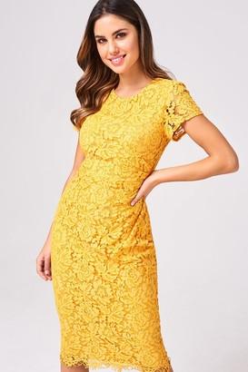 Mustard Lace Dress Shopstyle Uk