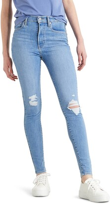 Levi's Mile High Ripped High Waist Super Skinny Jeans