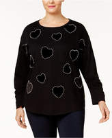 INC International Concepts I.n.c. Plus Size Embellished Sweatshirt, Created for Macy's