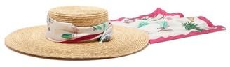 Filù Hats Filu Hats - Venezia Wide-brim Straw Hat - Womens - Pink