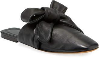 3.1 Phillip Lim Maia Tie-Back Leather Mule Flats