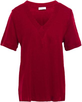 Sandro Linen-jersey T-shirt