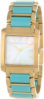 Kenneth Jay Lane Women's KJLANE-1609 900 Series Dial Gold Ion-Plated Stainless Steel and Turquoise Resin Watch