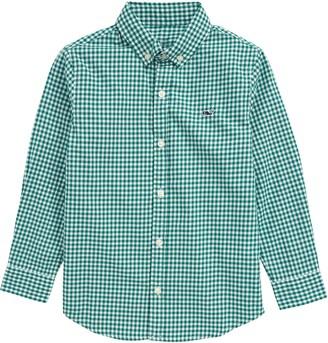 Vineyard Vines Arawak Gingham Button-Up Whale Shirt