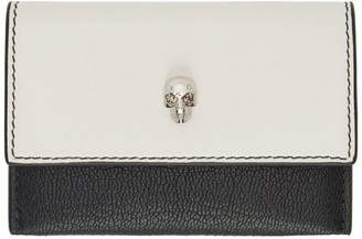 Alexander McQueen SSENSE Exclusive Off-White and Black Envelope Card Holder