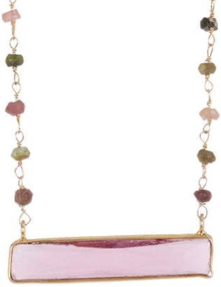 Forever Creations Usa Inc. Forever Creations 18K Over Silver 25.00 Ct. Tw. Multicolor Tourmaline Necklace