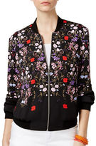 I.N.C International Concepts Petite Petite Floral-Printed Bomber Jacket