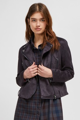 French Connection Aimee Suedette Biker Jacket