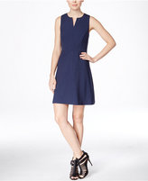 Kensie Sleeveless Split-Neck A-Line Dress