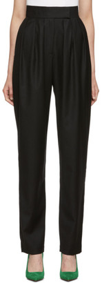 Materiel Tbilisi Black High-Waist Pleated Trousers