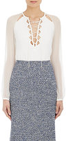 Altuzarra WOMEN'S LACE-UP BENNY BLOUSE