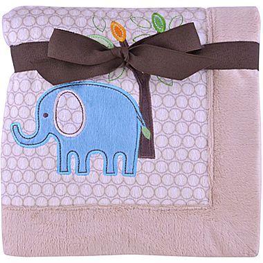 JCPenney Cuddletime Elephant Baby Blanket