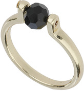 Topshop Black Spinning Ball Ring