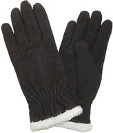 totes ISOTONER Womens Suede with Sherpa Spill Winter Gloves