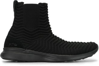 APL Athletic Propulsion Labs Chevron Patterned Sock-Style Sneakers