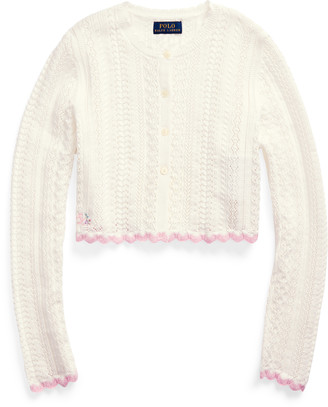 Ralph Lauren Cropped Cotton Cardigan