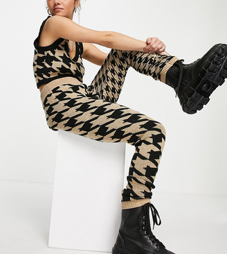 Collusion houndstooth joggers co-ord