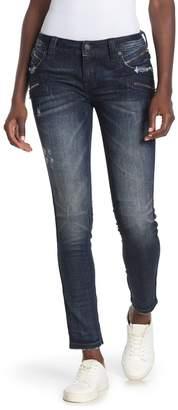 Rock Revival Skinny Zip Moto Jeans