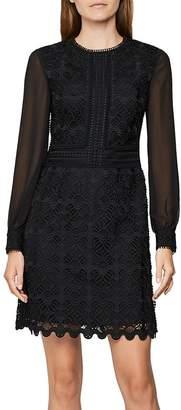 Reiss Aria Crochet Mini Dress