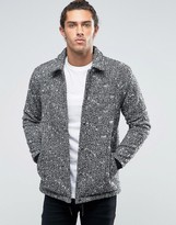 Asos Wool Mix Coach Jacket in Salt and Pepper