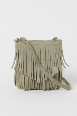 H&M Fringed Shoulder Bag - Green