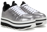 Prada Metallic Leather Platform Sneakers
