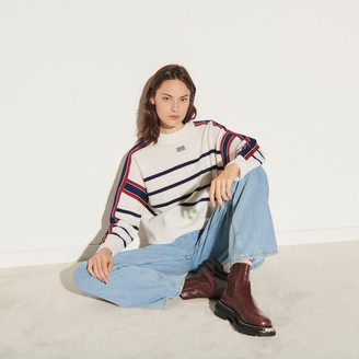 Sandro Sailor-striped sweater