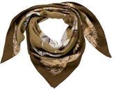 Hermes Les Poulains Cashmere Silk Scarf