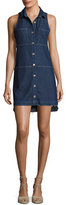 7 For All Mankind Sleeveless Dress W/ Step Hem, Indigo