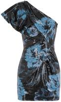 Alexandre Vauthier Floral-print Sequin Mini Dress