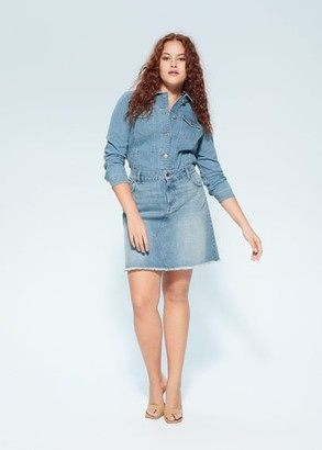 MANGO Violeta BY Denim miniskirt medium blue - S - Plus sizes