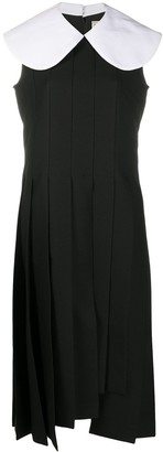 Comme des Garcons Peter Pan collar sleeveless dress