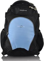 Obersee Oslo Diaper Bag Backpack with Detachable Cooler in Black/Cloud