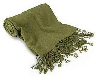 Forzieri Olive Green Pashmina Shawl