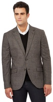 J By Jasper Conran Brown Checked Print Smart Jacket
