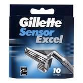 Gillette Sensor Excel Blades Refill 10 pack