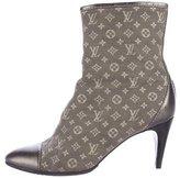 Louis Vuitton Metallic Monogram Ankle Boots