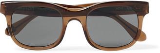 Ahnah Achi Square-Frame Tortoiseshell Bio-Acetate Sunglasses