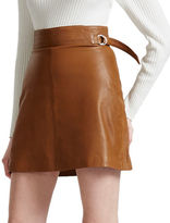 French Connection Goldenburg Leather Skirt