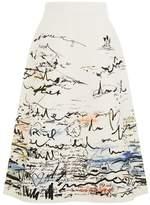 Burberry Coastal Print A-line Skirt