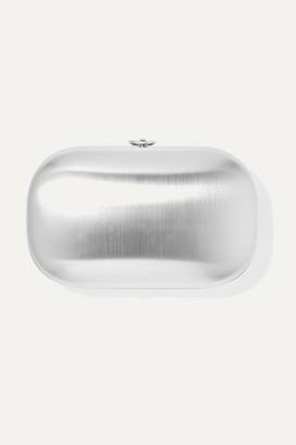 JEFFREY LEVINSON Elina Plus Satin Chrome Aerospace Aluminum Clutch - Silver