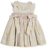 Luli & Me Ruffle Floral Smocked Dress, Size 6-18 Months
