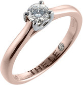 Leo Diamond 18ct rose gold 0.33ct I-SI2 solitaire ring