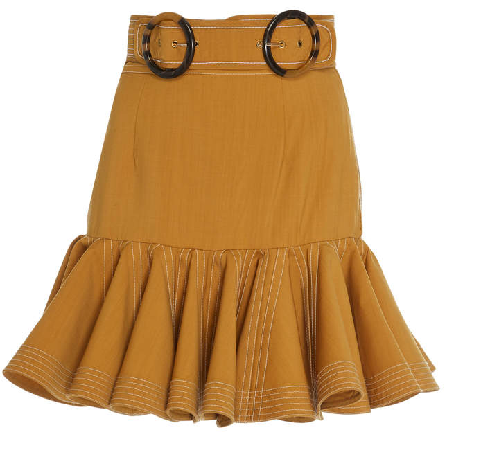 300ed2e15caa Brown Wool Flared Skirt - ShopStyle