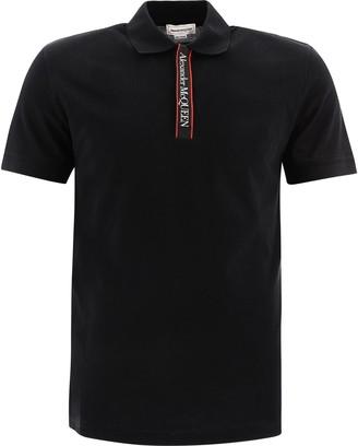 Alexander McQueen Logo Trim Polo Shirt